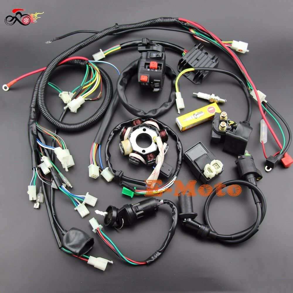 buggy wiring harness loom gy6 engine 125 150cc quad atv go
