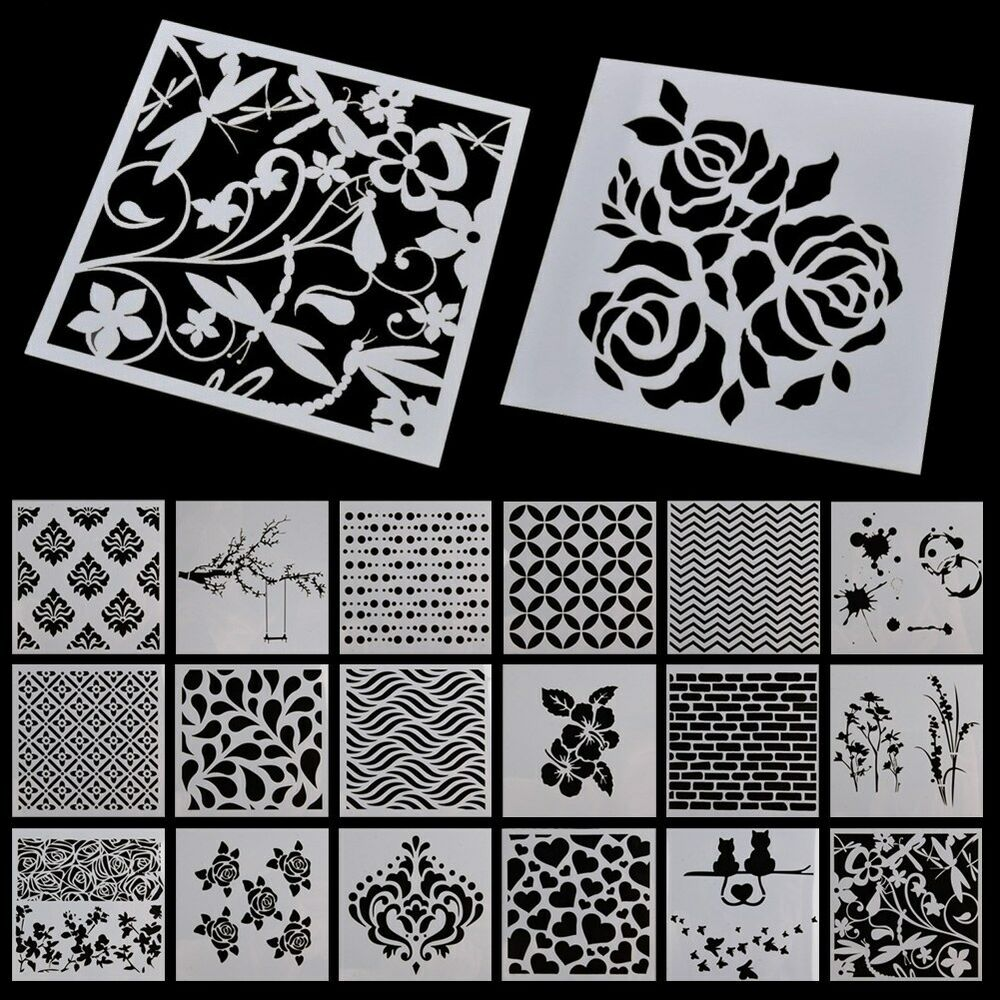 letter and number stencils for painting stencil alphabet stencils wall painting templates craft 24227 | s l1000