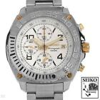 Men's Seiko SNA619 Two Tone Stainless Steel Watch with Date, Alarm, Chronograph