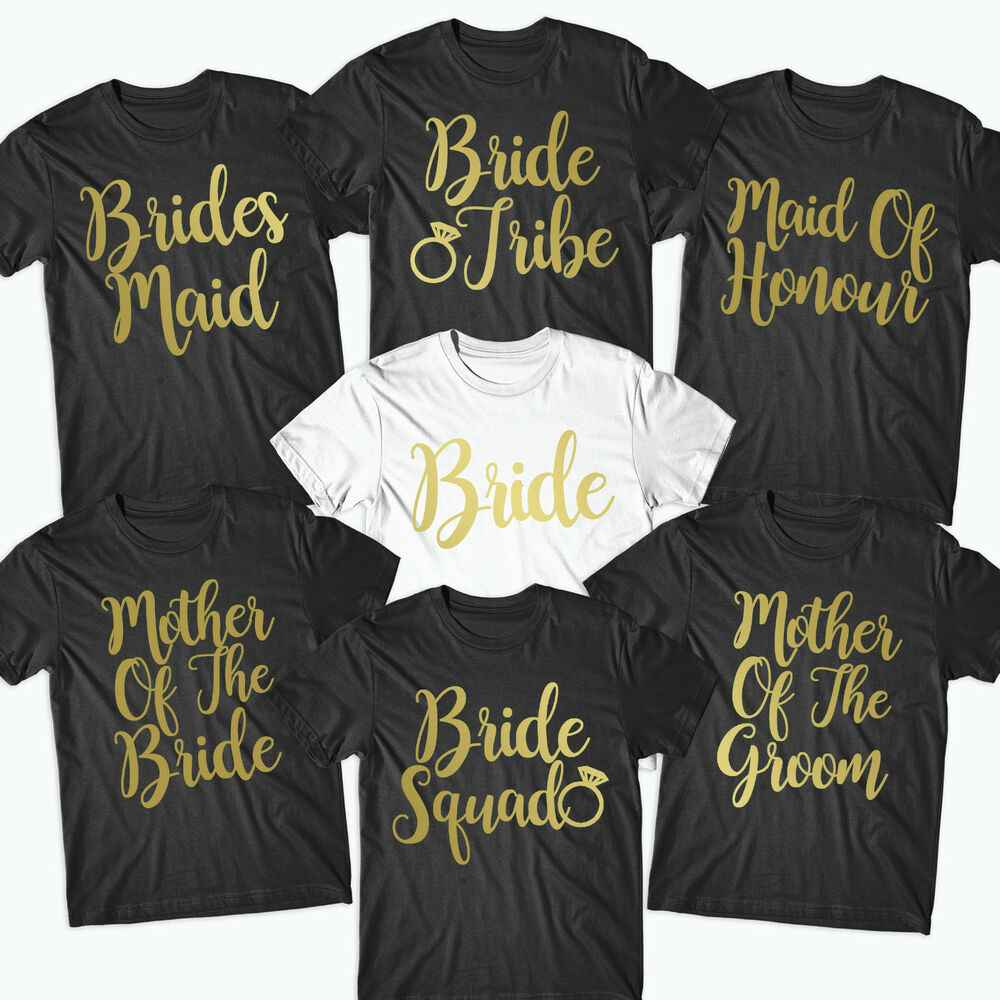 d812db2f Details about Hen Party T Shirts Hen Do Top Bride To Be Tribe Squad  Personalised Print- BRD10