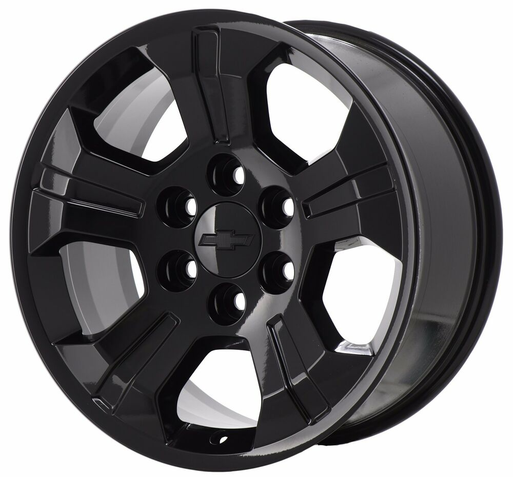 "18"" CHEVROLET SILVERADO Z71 1500 TRUCK BLACK WHEEL FACTORY ..."