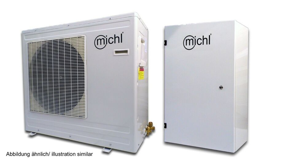 michl dc inverter luft wasser w rmepumpe split 9 kw iwps 9d ebay. Black Bedroom Furniture Sets. Home Design Ideas