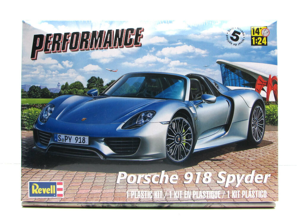revell porsche 918 spyder 85 4329 1 24 new car plastic model kit ebay. Black Bedroom Furniture Sets. Home Design Ideas