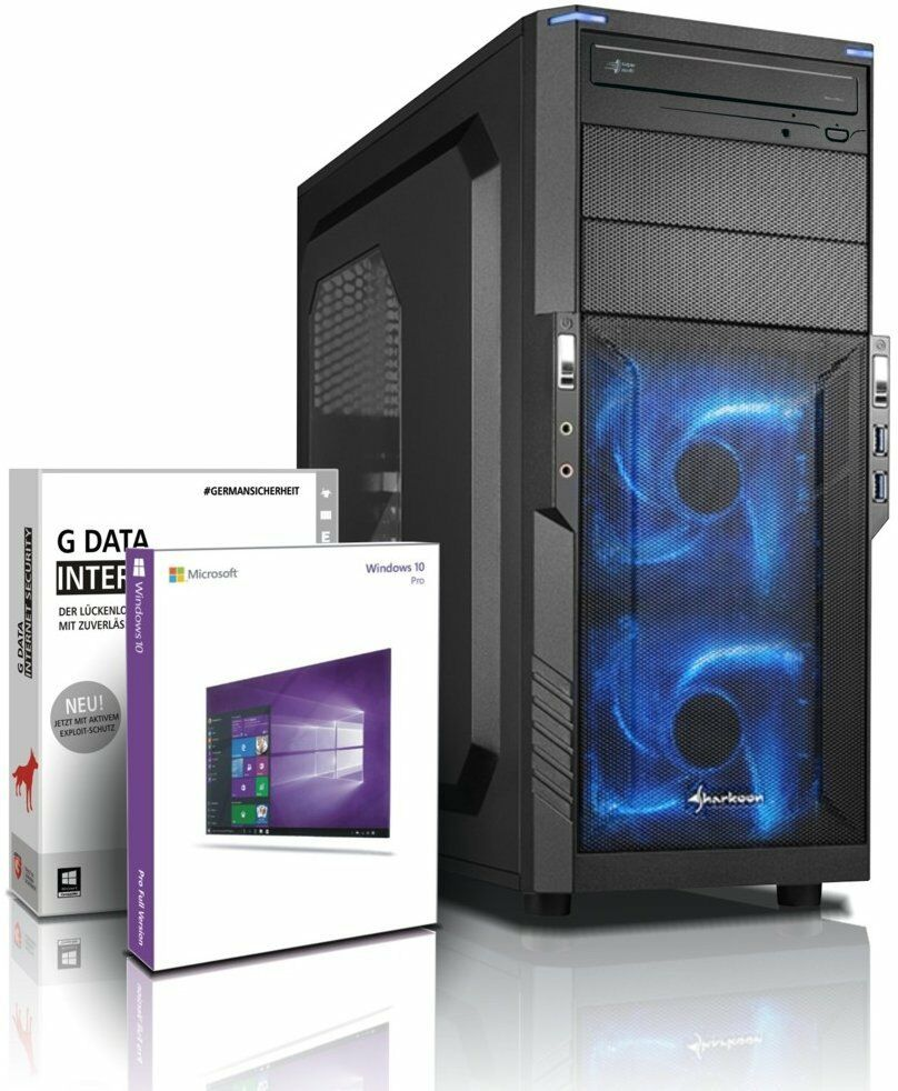 pc quad core computer gamer fx 4100 16gb nvidia gt710 rechner komplett windows10 ebay. Black Bedroom Furniture Sets. Home Design Ideas