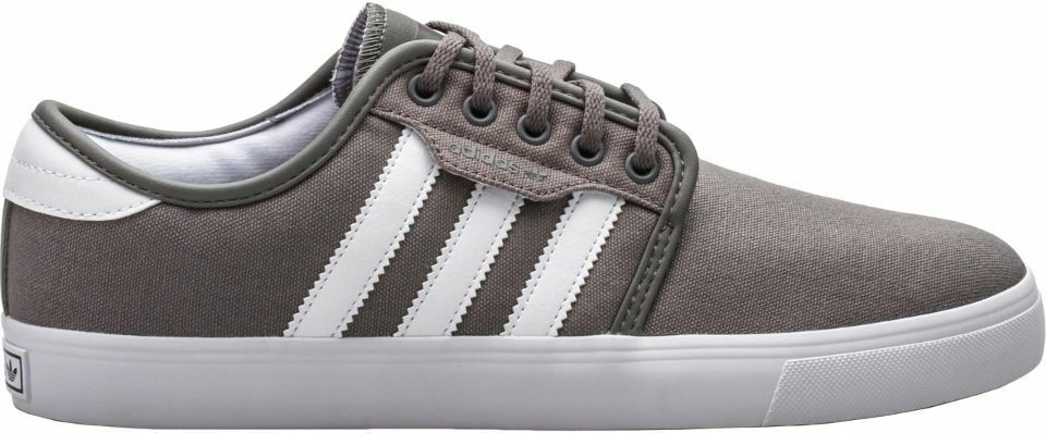Adidas SEELEY Cinder Grey White Discounted (236) Skateboarding Men's Shoes