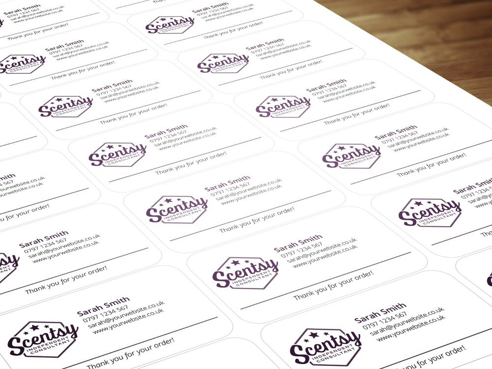 Personalised labels stickers for scentsy consultants distributors ebay