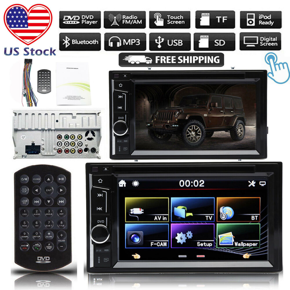 """For Jeep 6.2"""" 2Din Car Stereo CD DVD Player Radio Touch"""