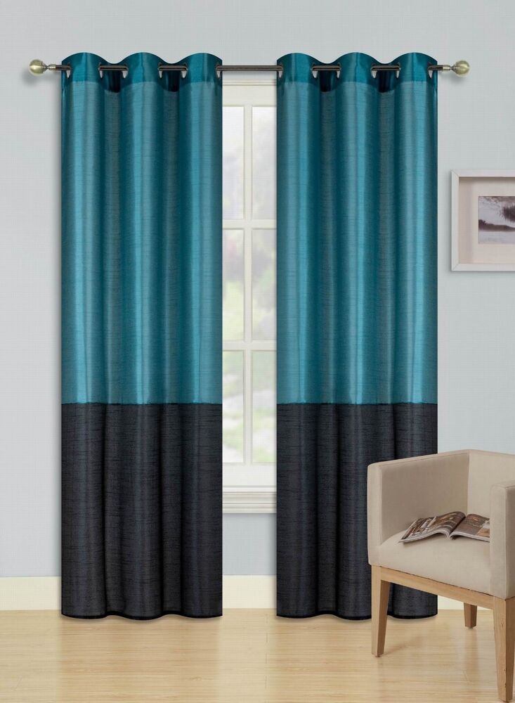 2pc Teal Black Eid 2 Shades Insulated Blackout Window