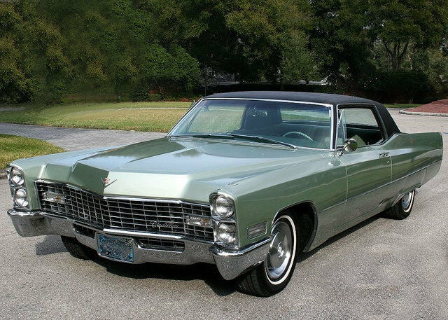 1967 cadillac coupe deville green refrigerator magnet 40. Black Bedroom Furniture Sets. Home Design Ideas