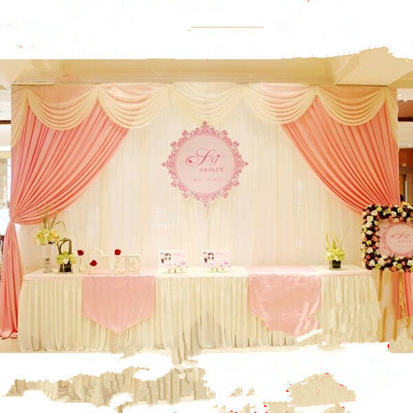 Wedding stage backdrop decorations welcome curtains Reception curtains swag