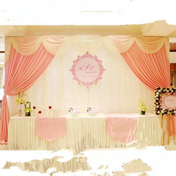 Wedding stage backdrop decorations welcome curtains