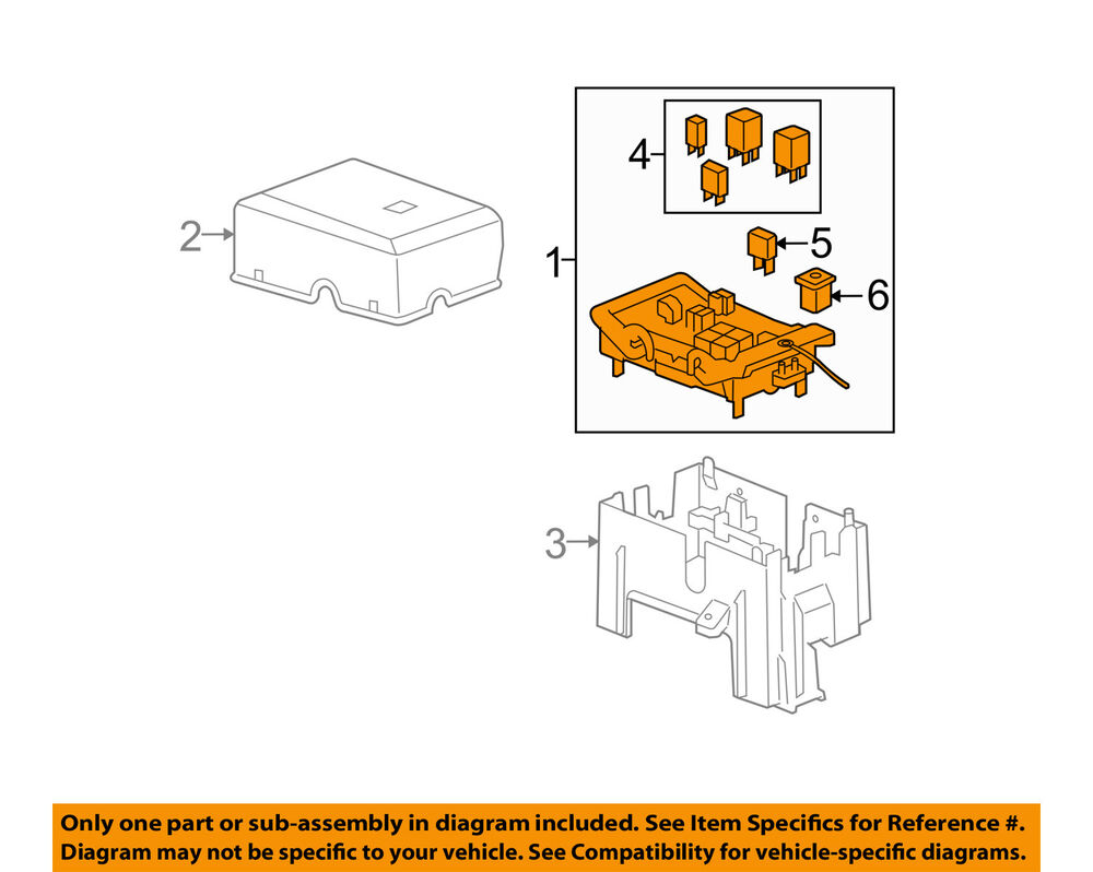 Gm Oem Fuse Relay Junction Block 19210436 Ebay Diagram For 2005 Escalade Ext