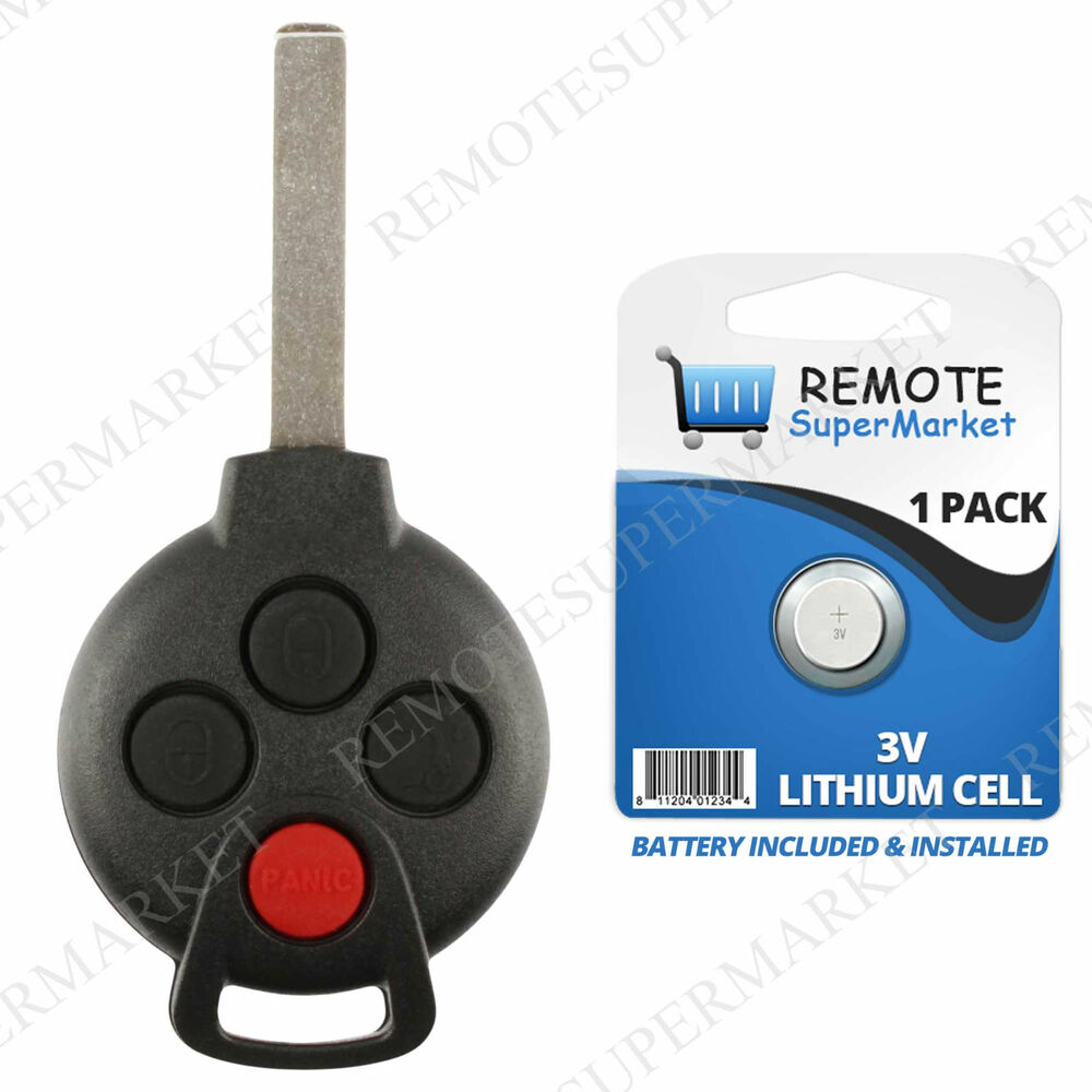 Smart Car Key Replacement >> Replacement for Smart 2008-2015 ForTwo Remote Car Keyless ...