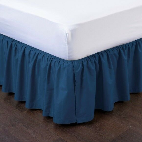 Navy New 1pc 14 Quot Drop Solid Plain Bed Skirt With Split