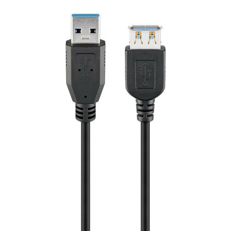 usb 3 0 verl ngerungskabel superspeed verl ngerung kabel a stecker a buchse 3m ebay. Black Bedroom Furniture Sets. Home Design Ideas