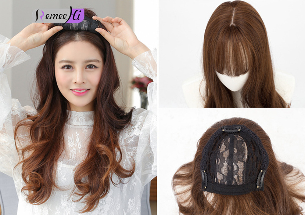 Cheap Synthetic Hair Topper Top Piece Women Hairpiece With