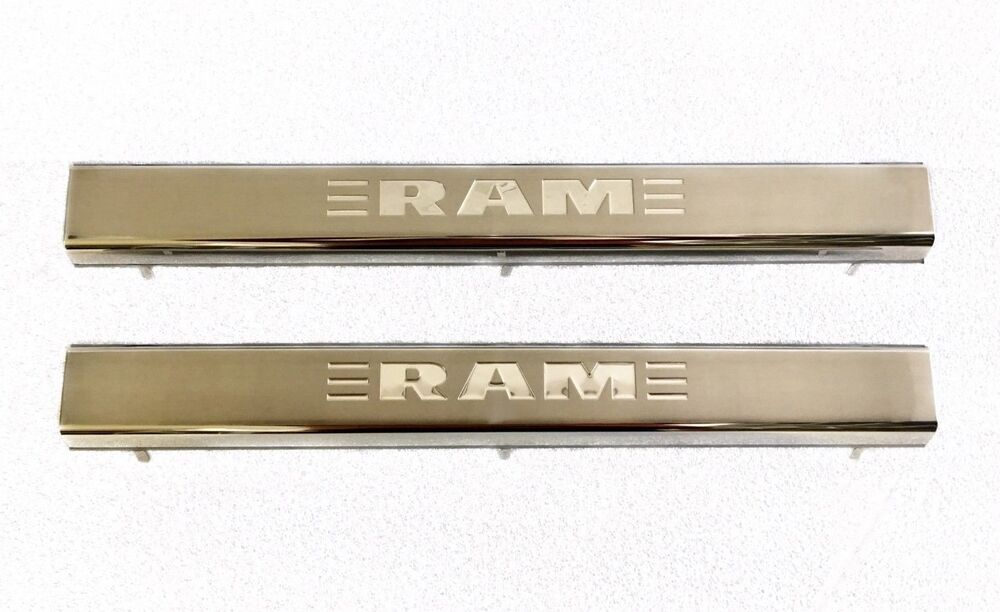 2011 2017 Dodge Ram Door Sill Guard Plates Stainless Steel