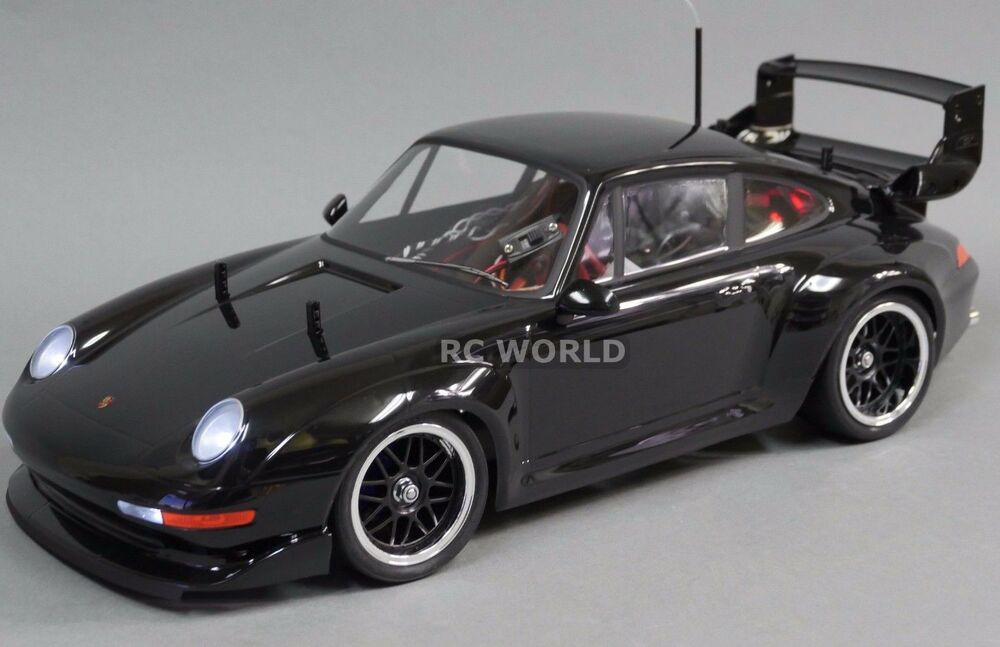tamiya 1 10 rc car porsche 911 gt2 turbo ta02sw 2 4ghz black rtr ebay. Black Bedroom Furniture Sets. Home Design Ideas