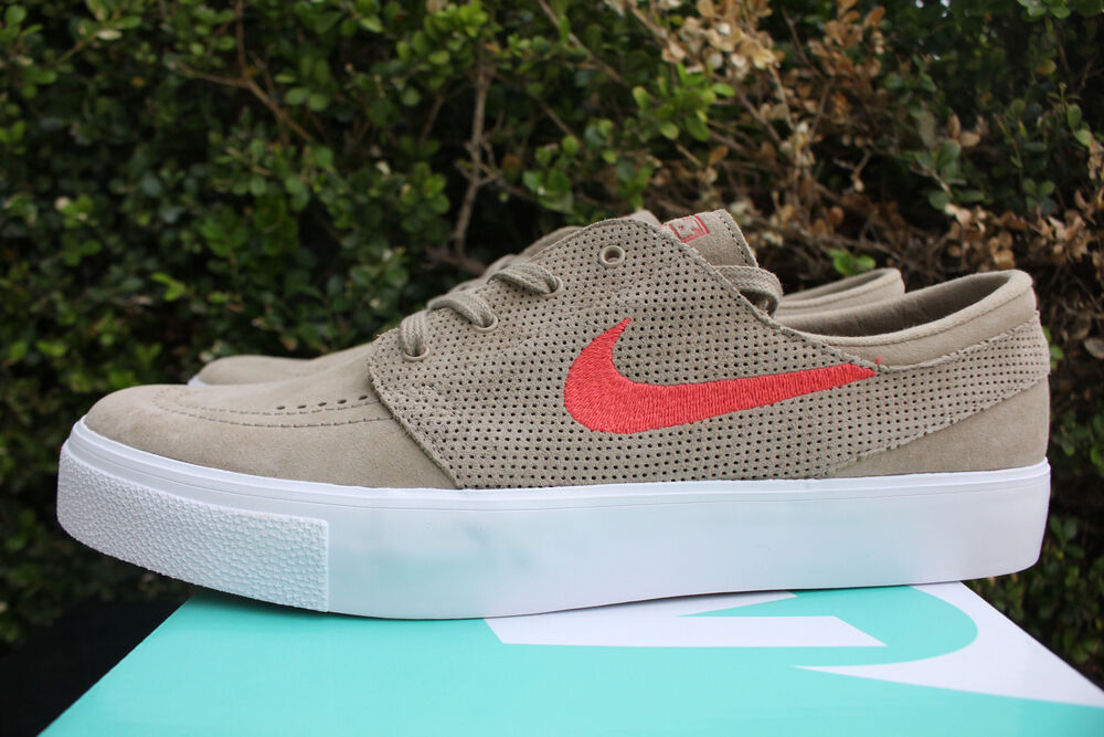 more photos de90f 2d179 Details about NIKE SB ZOOM STEFAN JANOSKI PREMIUM HIGH TAPE SZ 8 KHAKI  TRACK RED 854321 261