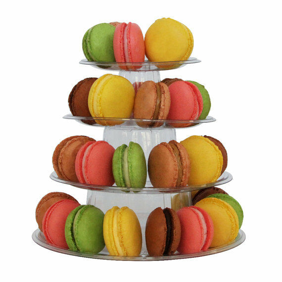 4 tier macaron tower display stand for french macarons ebay. Black Bedroom Furniture Sets. Home Design Ideas