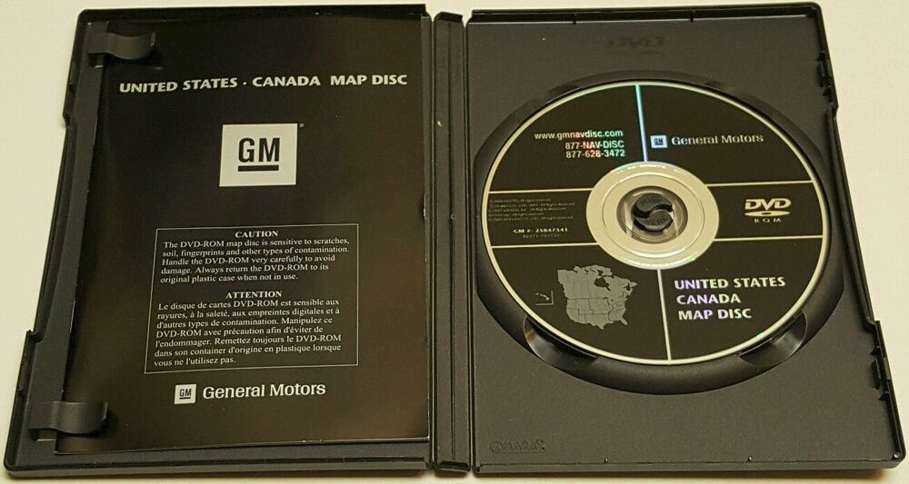 CADILLAC GMC CHEVROLET HUMMER NAVIGATION DVD CD DISC 25847541 DISK ...