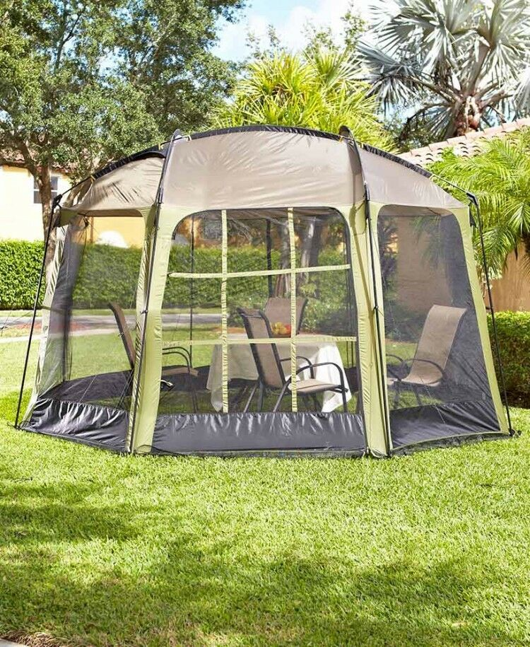 Outdoor gazebo pop up tent with screen for parties for Portable garden screen