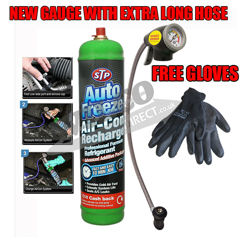 Car Air Con Kit Top Up Aircon Conditioning Recharge Refill