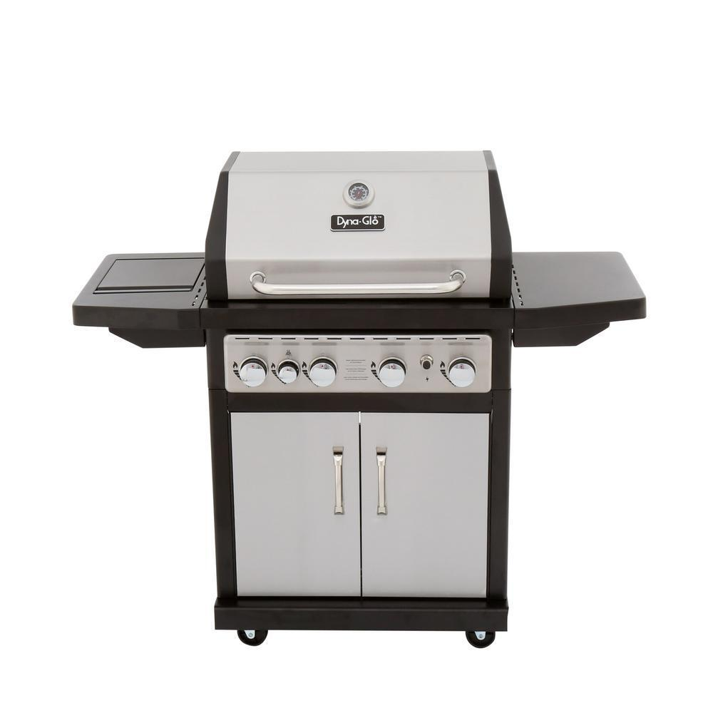 Outdoor bbq natural gas grill 4 burner w side shelf heavy for Gasgrill fur outdoor kuche