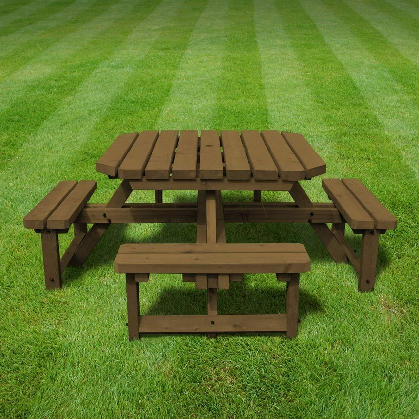 Whitwell Junior Octagonal Wooden Table Childrens Picnic