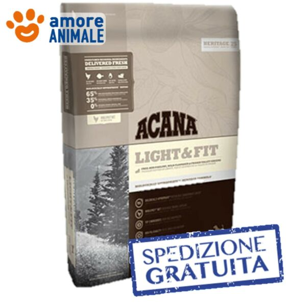 Acana Dog Heritage Light & Fit 11,4 kg - Crocchette per cane cani