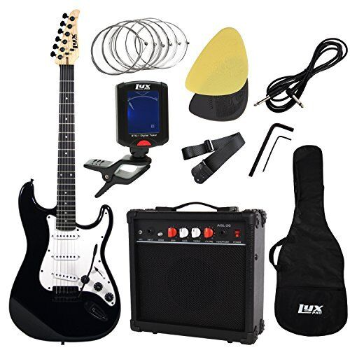 lyxpro complete beginner starter kit pack full size electric guitar with 20w amp 689998628320 ebay. Black Bedroom Furniture Sets. Home Design Ideas