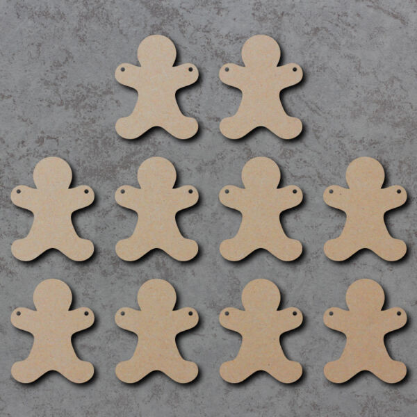 Gingerbread Men / Man Bunting x10 - Summer Wooden Craft Bunting Blanks and Signs