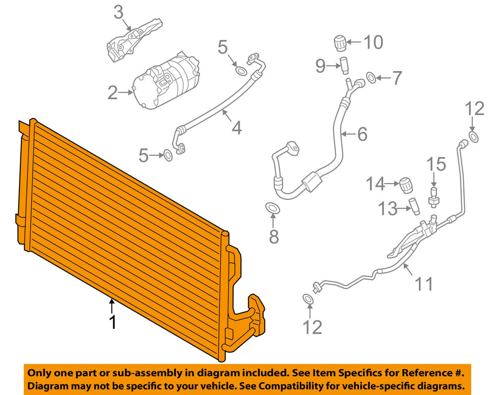 Bmw Oem 12 15 328i Air Conditioner A C Ac Condenser 64506804722 Ebay 428i Engine Diagram