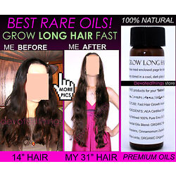 5 Before and After Natural Organic Oils Fast Hair Growth Oil Serum Grow Long