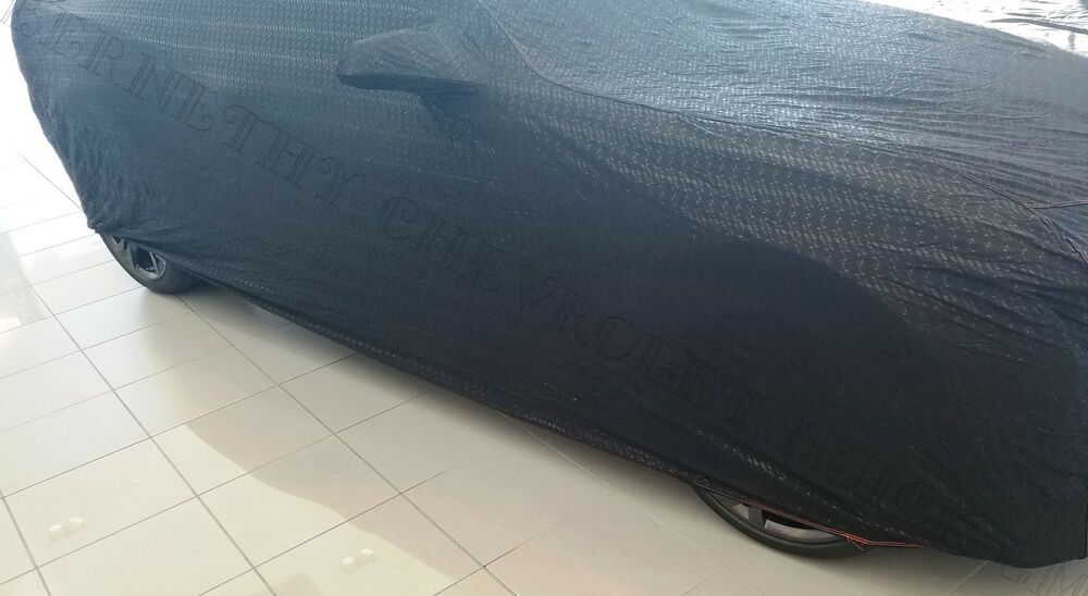50th anniversary oe gm indoor dust car cover black for 2016 2018 camaro 23248241 ebay. Black Bedroom Furniture Sets. Home Design Ideas