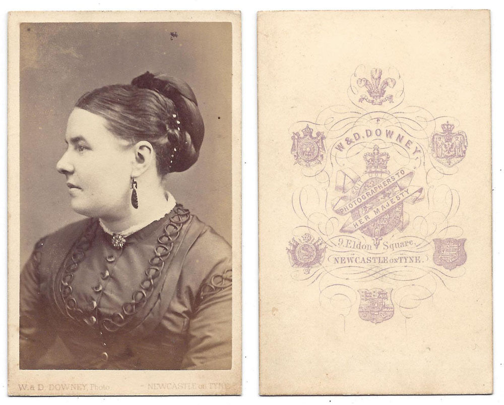 Details About CDV Victorian Lady Carte De Visite Photo By WD Downey Of London Newcastle