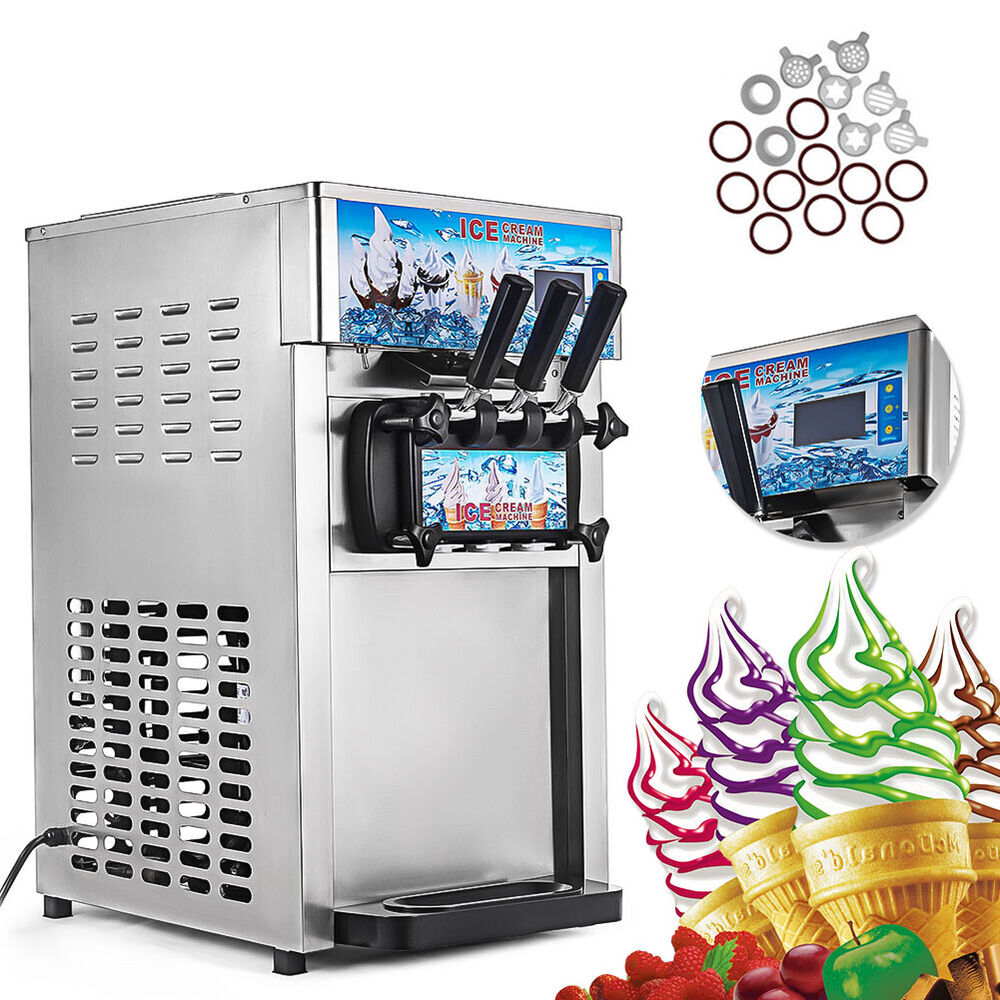 3 flavor commercial frozen ice cream cones machine soft ice cream machine ebay. Black Bedroom Furniture Sets. Home Design Ideas