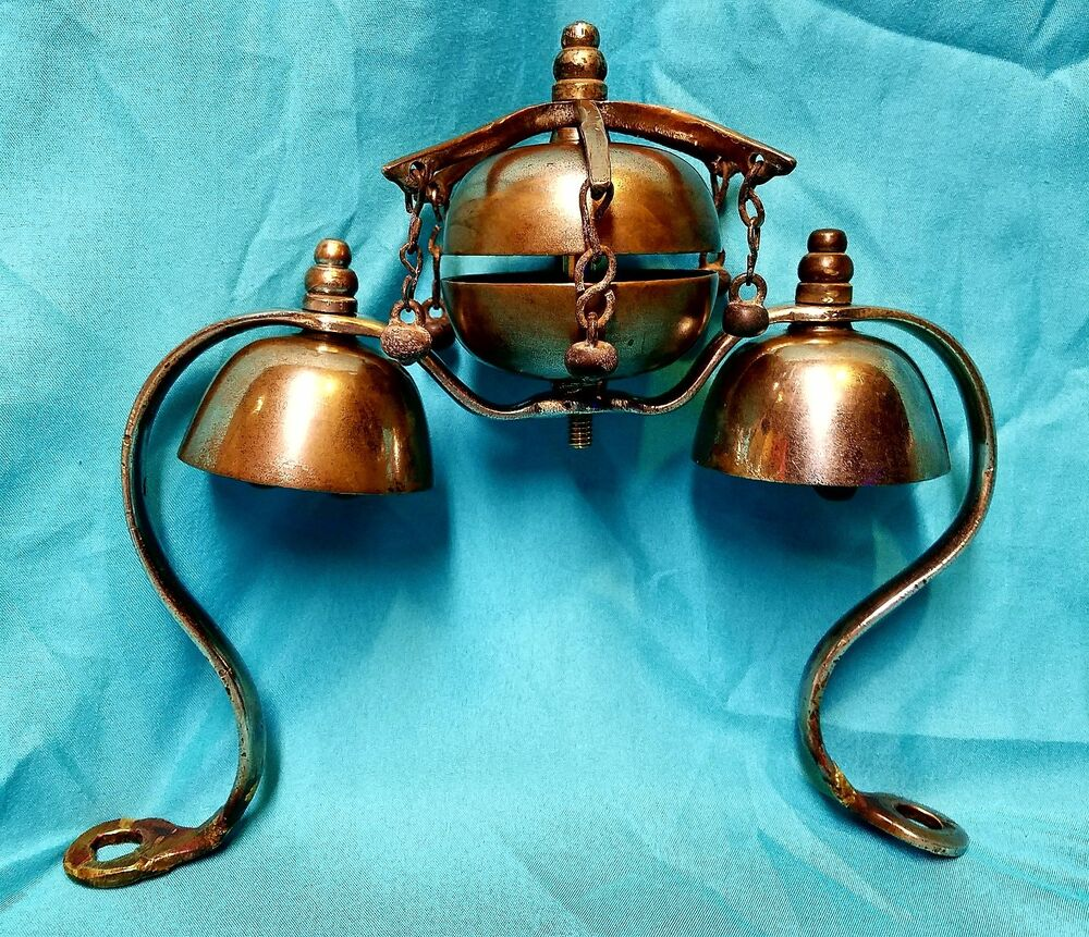 antique brass carriage parade show horse harness triple