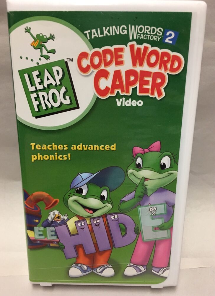 leapfrog letter factory new dvd 31398110897 ebay leap frog talking words factory 2 code word caper vhs 618