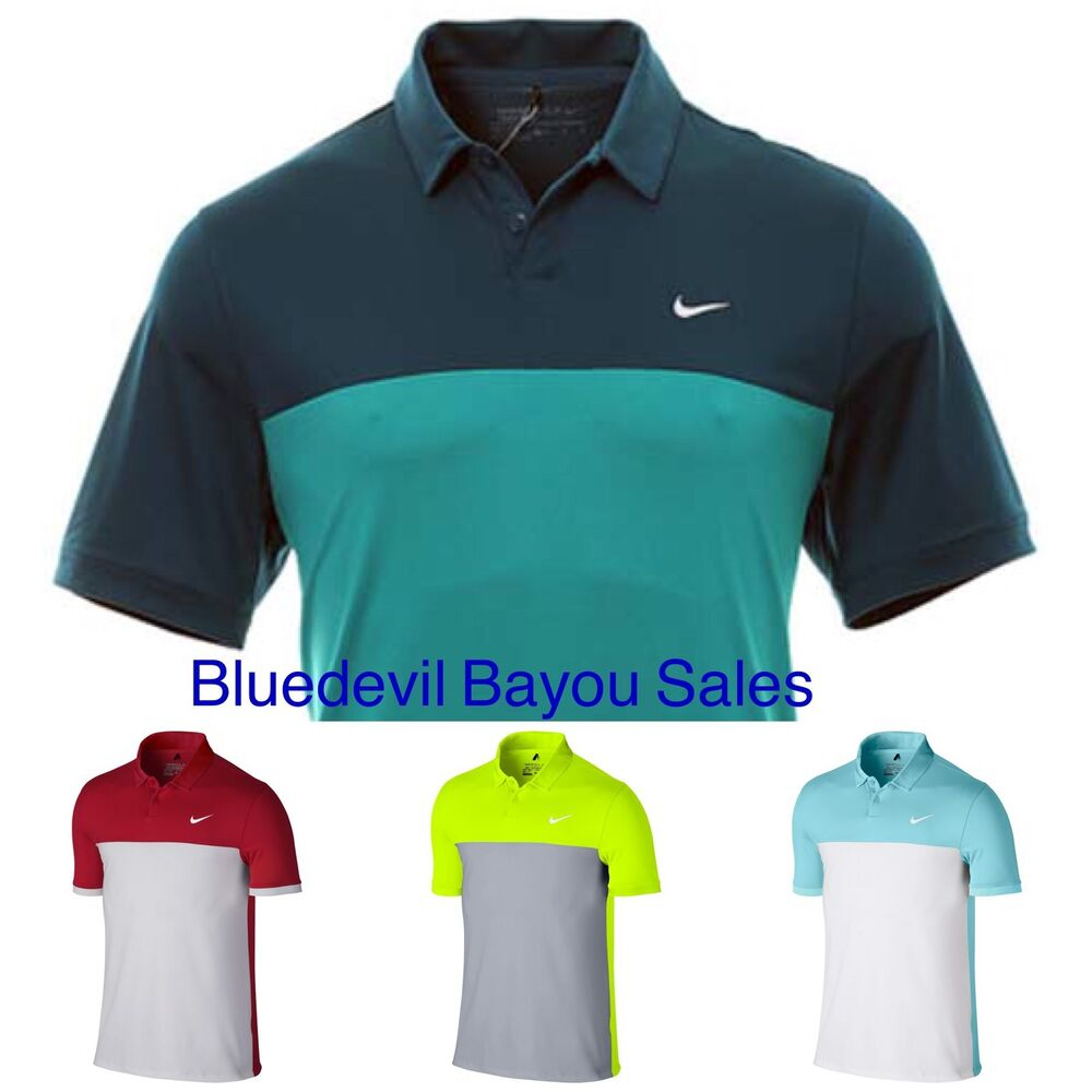 a5d5f00ae40a9 Details about New Nike Dri Fit Icon Color Block Polo Golf Shirt 725527