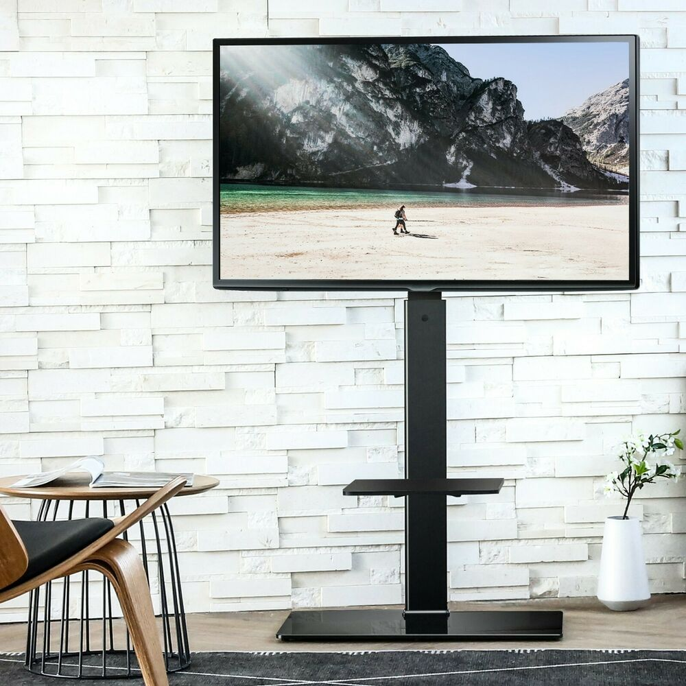 Floor tv stands for 55 inch flat screens - Fitueyes 27 5 Swivel Tv Stand With Mount Fits 32 36 40 42 50 52 55 65 Plasma Tv