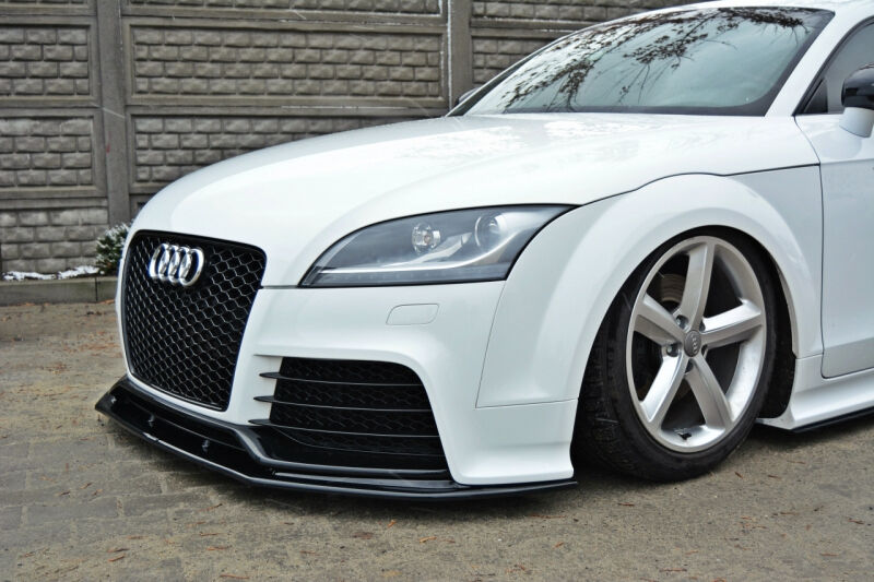 audi tt rs 8j 06 14 front bumper lower lip spoiler cup. Black Bedroom Furniture Sets. Home Design Ideas