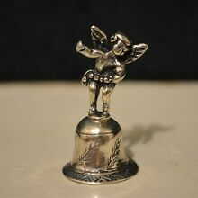 miniature sterling silver dollhouse 1:12 angel bell
