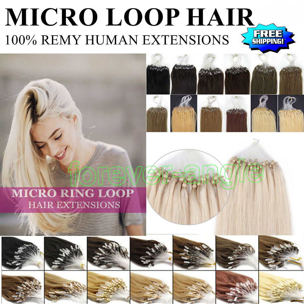 Ombre Balayage Diy Micro Ring Beads Loop Tipped Remy Human Hair
