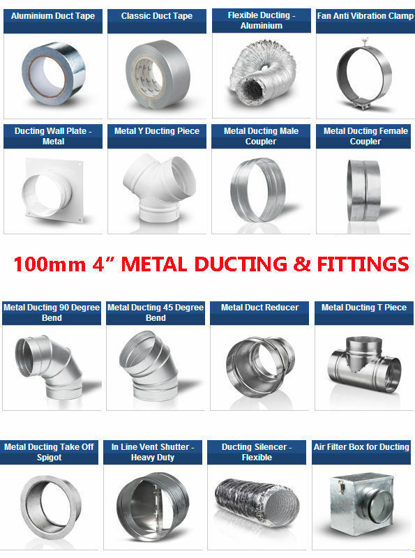 Metal 4 Inch 100mm Dia Ducting Parts N Fittings For 4 Duct Or Extractor Fan Ebay