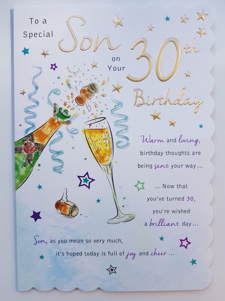 Son Th Birthday Cards Uk ~ To a special son on your th birthday card ebay