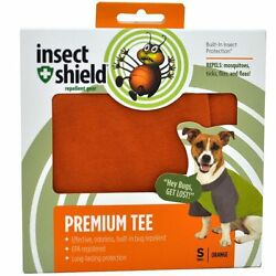 Insect Shield Premium Tee For Small Dogs ''Orange''  ~ NEW
