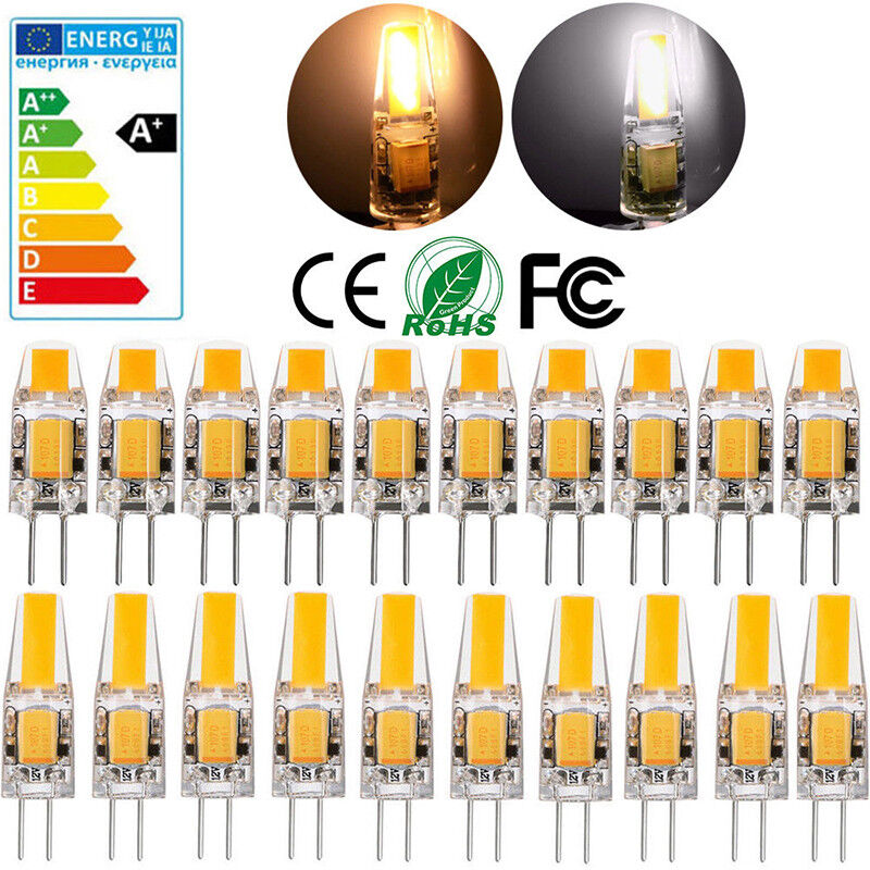 10x 8x dimmbar 3w 5w g4 led cob lampe stiftsockel birne warmwei 360 ac dc 12v ebay. Black Bedroom Furniture Sets. Home Design Ideas