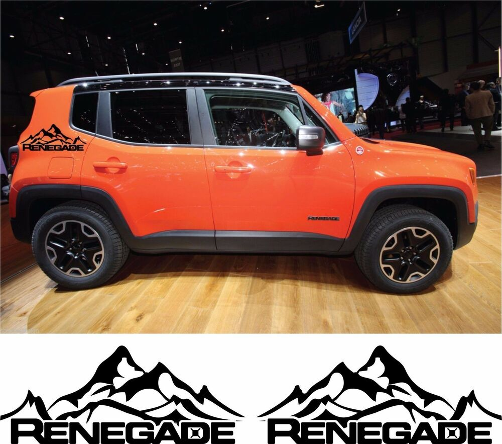 Jeep Renegade Tuning Parts >> Jeep Renegade Trailhawk Side Stripes Vinyl Decals Stickers Wrap Mountains | eBay
