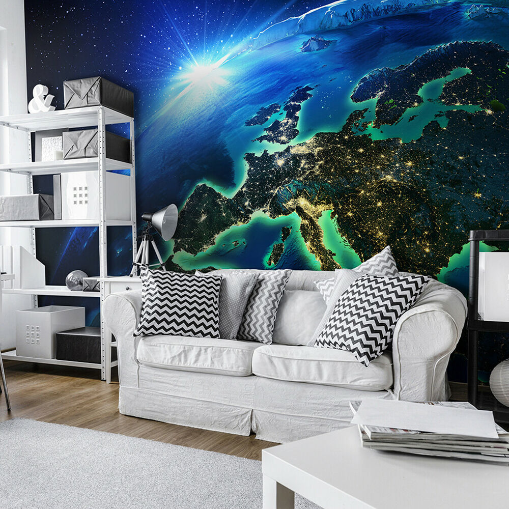vlies fototapete weltraum welt kosmos tapete tapeten schlafzimmer wandbild xxl ebay. Black Bedroom Furniture Sets. Home Design Ideas